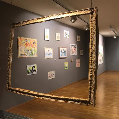Empty frame Papier-mâché, Acrylic paint100 x 130cm 2019